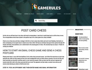 postcardchess.com screenshot