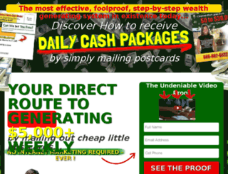 postcardwealth.com screenshot