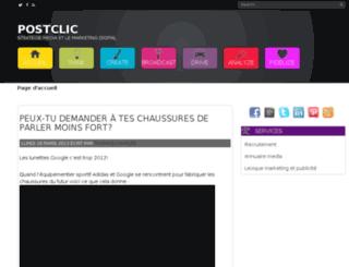 postclic.com screenshot