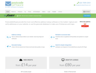 postcodesoftware.co.uk screenshot