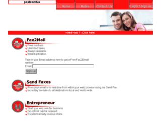 postcom.co.za screenshot