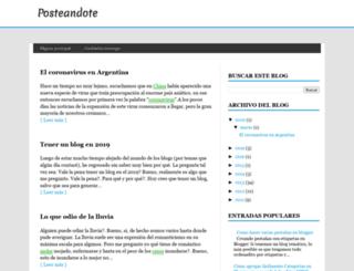 posteandote.blogspot.mx screenshot