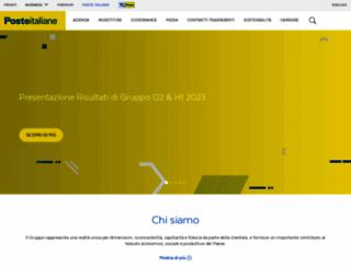 posteitaliane.it screenshot