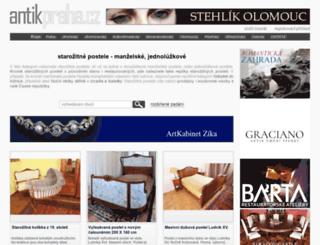 postele.antikpraha.cz screenshot