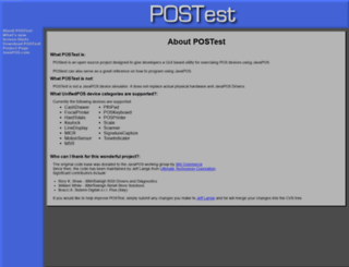 postest.sourceforge.net screenshot