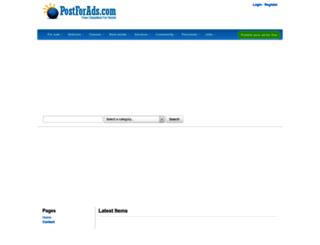 postforads.com screenshot