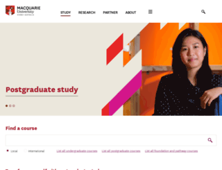 postgrad.mq.edu.au screenshot