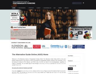 postgraduate-funding.com screenshot