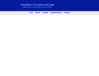 postgraduate.udsm.ac.tz screenshot