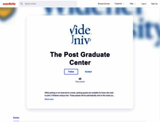 postgraduatecenter.eventbrite.com screenshot