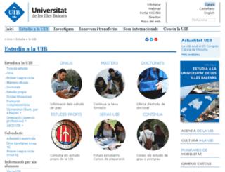 postgrau.uib.cat screenshot