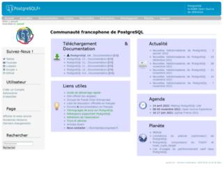 postgresqlfr.org screenshot