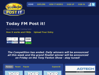 postit.todayfm.com screenshot