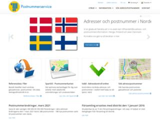 postnummerservice.se screenshot