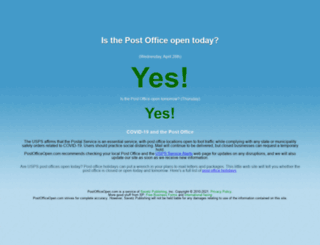 postofficeopen.com screenshot