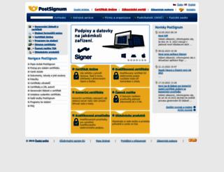 postsignum.cz screenshot