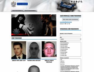 poszukiwani.policja.pl screenshot