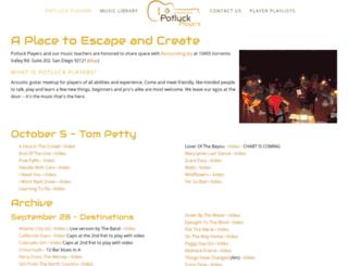 potluckplayers.com screenshot
