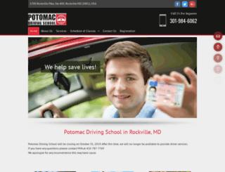 potomacdrivingschool.net screenshot
