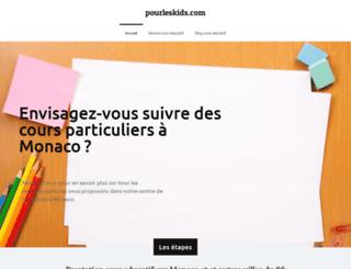 pourleskids.com screenshot