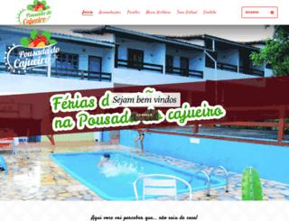 pousadadocajueiro.com.br screenshot