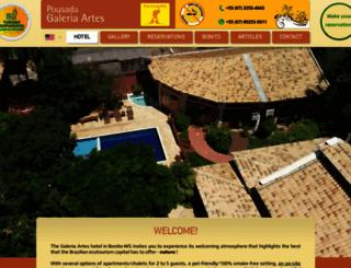 pousadagaleriaartes.com.br screenshot