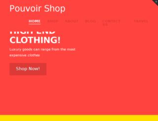 pouvoirshop.com screenshot