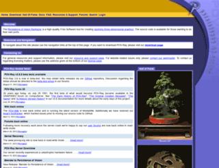 povray.com screenshot