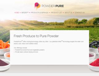 powderpure.com screenshot