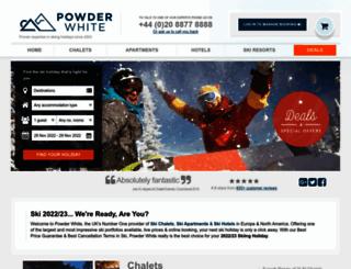 powderwhite.com screenshot