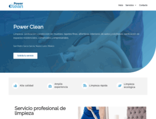 powerclean.com.mx screenshot