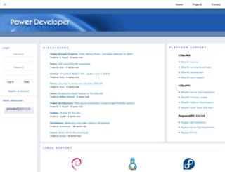 powerdeveloper.org screenshot