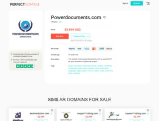 powerdocuments.com screenshot