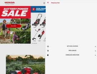powerequipment.honda.com.au screenshot