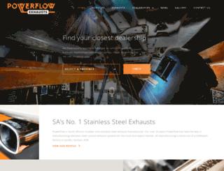 powerflowexhausts.com screenshot