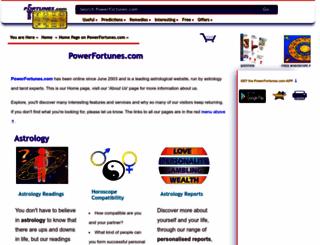 powerfortunes.net screenshot
