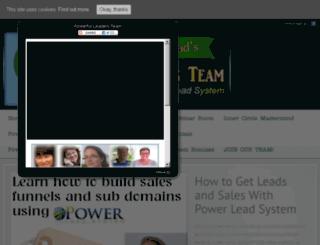 powerfulteambuilder.com screenshot