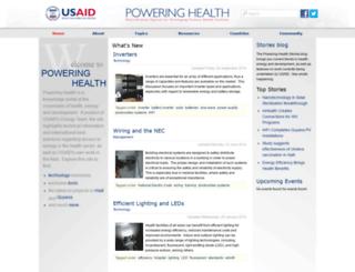 poweringhealth.org screenshot