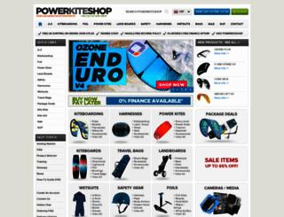 powerkiteshop.com screenshot