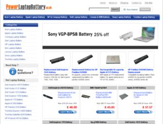 powerlaptopbattery.co.uk screenshot