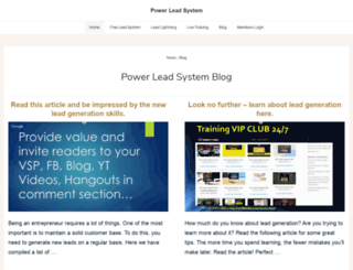 powerleadsystems.com screenshot