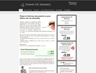 powerofattorney.org.uk screenshot