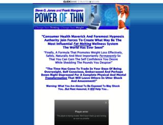 powerofthin.com screenshot