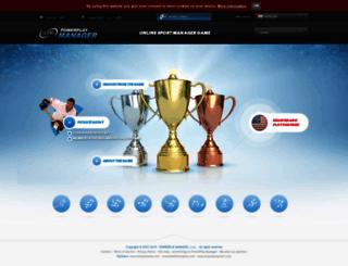 powerplaymanager.com screenshot