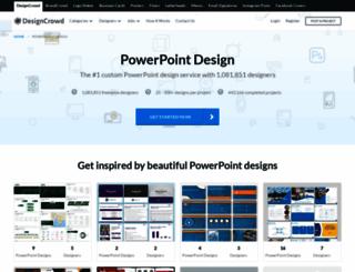 powerpoint.designcrowd.co.in screenshot