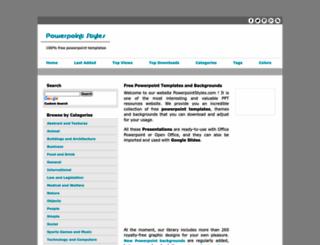 powerpointstyles.com screenshot