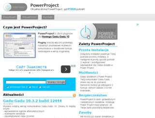 powerproject.bajo.pl screenshot