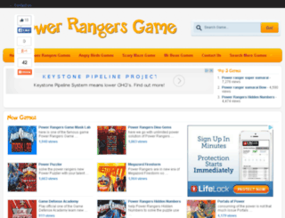 powerrangergame.org screenshot