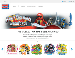 powerrangers.megabloks.com screenshot