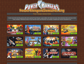 powerrangerssamurai.org screenshot